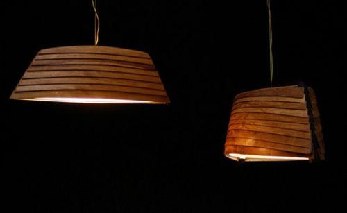 elegante drift lampe romantisch holz hängend herrlich ...
