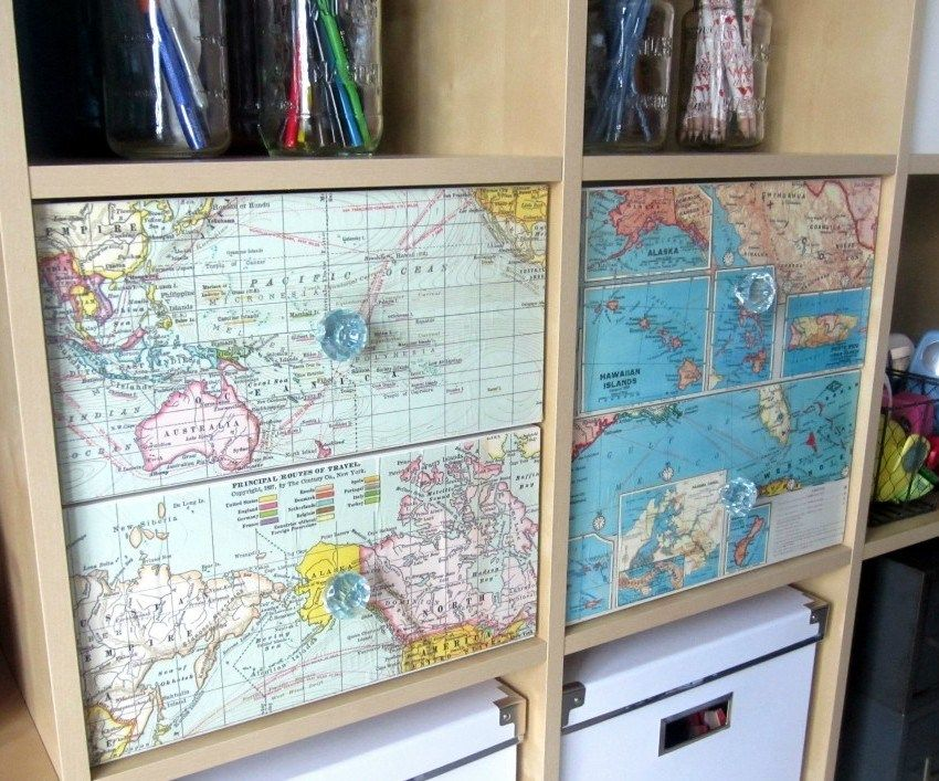 furniture decoupage ideas13 map crafts diy drawers map on simple effective and easy diy shelves decorations ideas the way of appearance of any space id=56666