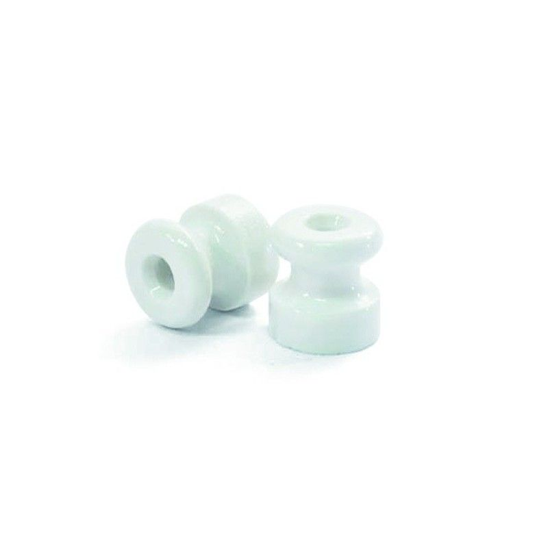 Porcelain Insulator For Wall Wiring 18mm Porcelain Insulator Pulley Light Electrical Fittings