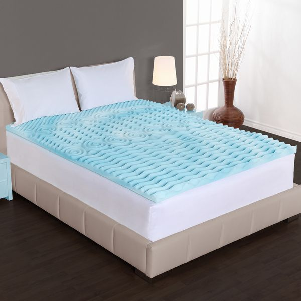 Pillow Top Mattress Covers Delectable Authentic Comfort 2Inch Comfort Rx 5Zone Foam Mattress Topper
