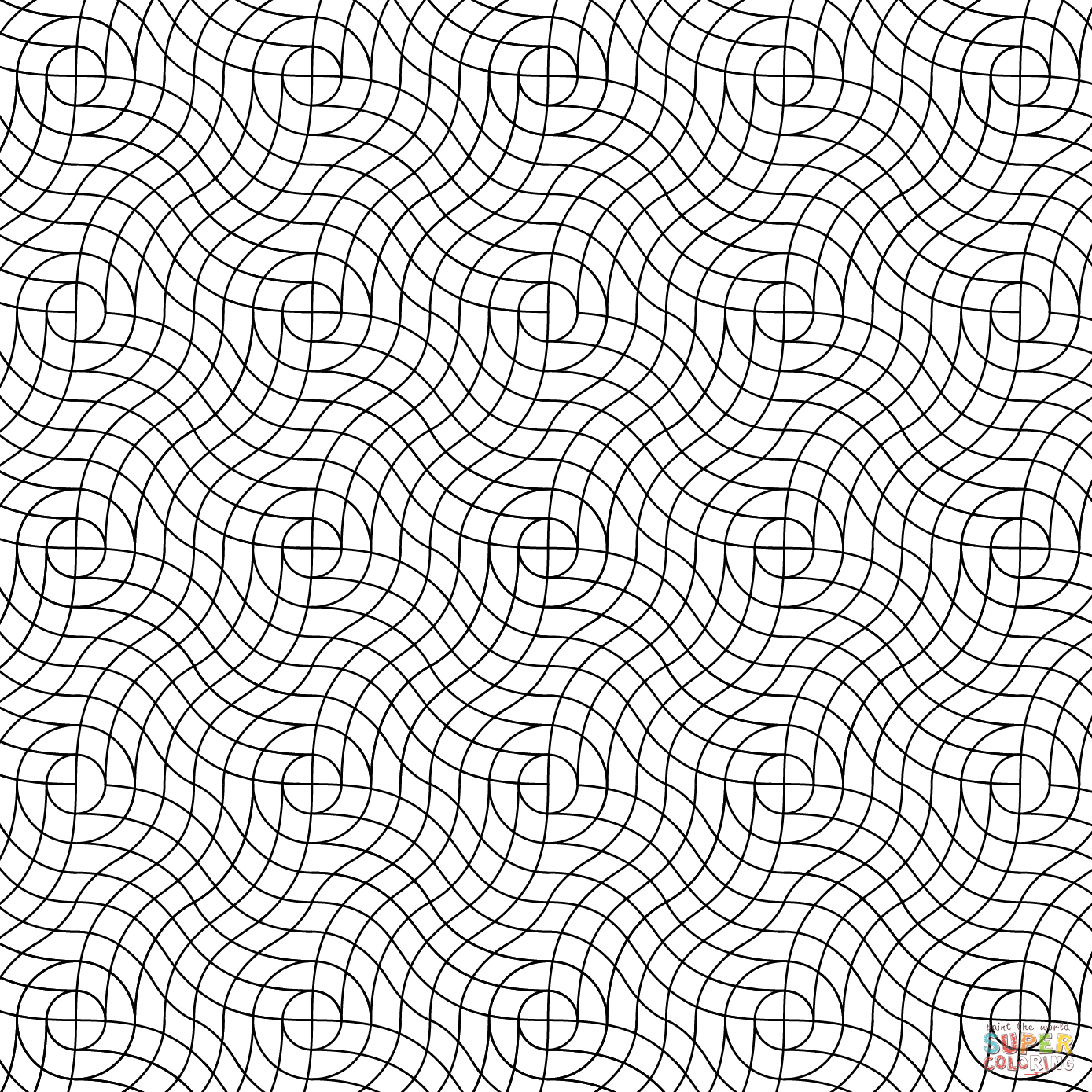 Coloring pages patterns - Wavy Weave Pattern Coloring Page From Pattern Category Select From 25743 Printable Crafts Of Cartoons Nature Animals Bible And Many More