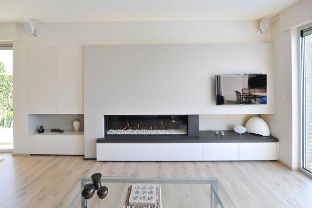 strakke haardwand met gashaard tv en kastruimte niel pinterest wohnzimmer zuhause und ideen. Black Bedroom Furniture Sets. Home Design Ideas
