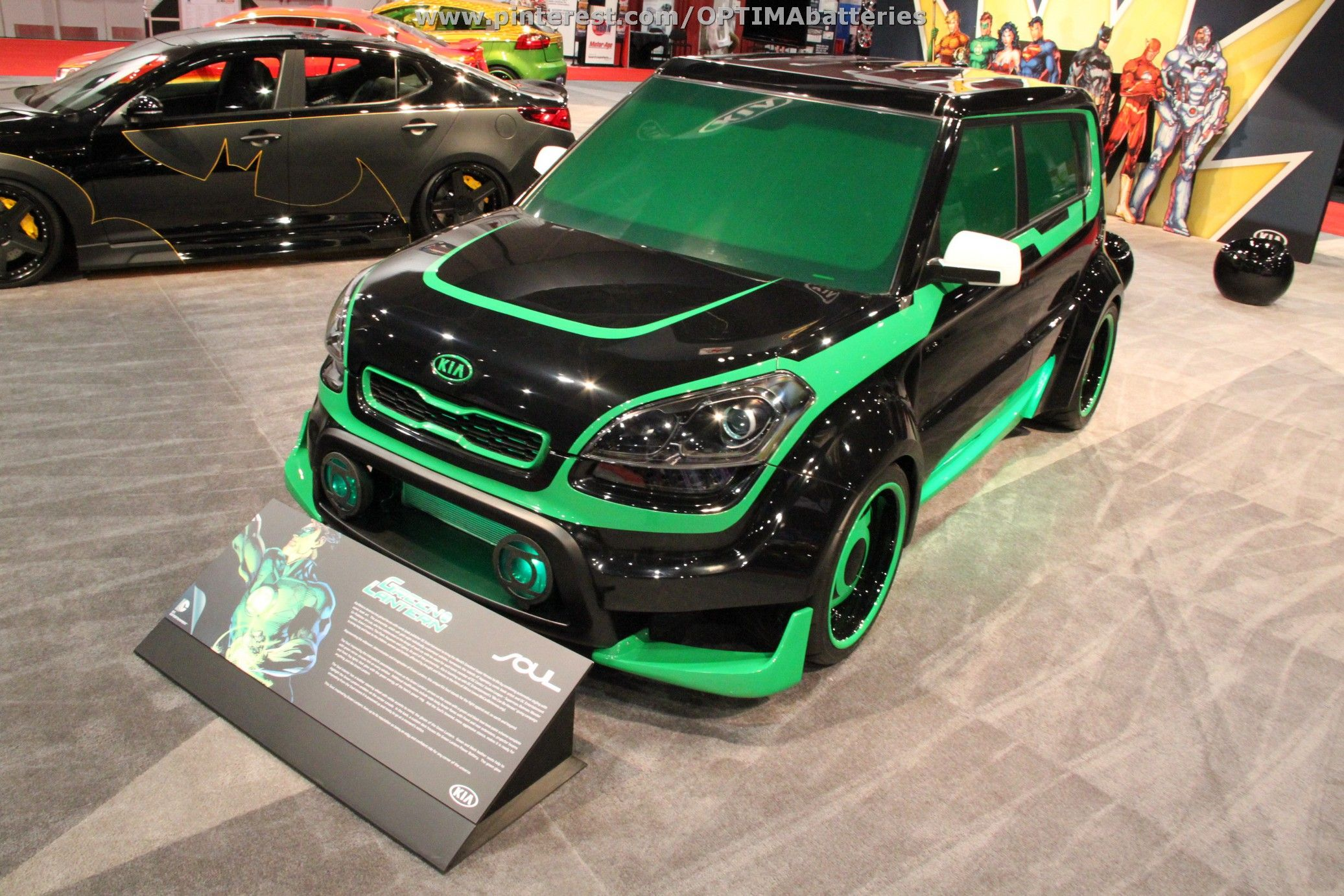 the green lantern inspired kia soul at sema 2012 cars pinterest kia soul cars and vehicle. Black Bedroom Furniture Sets. Home Design Ideas