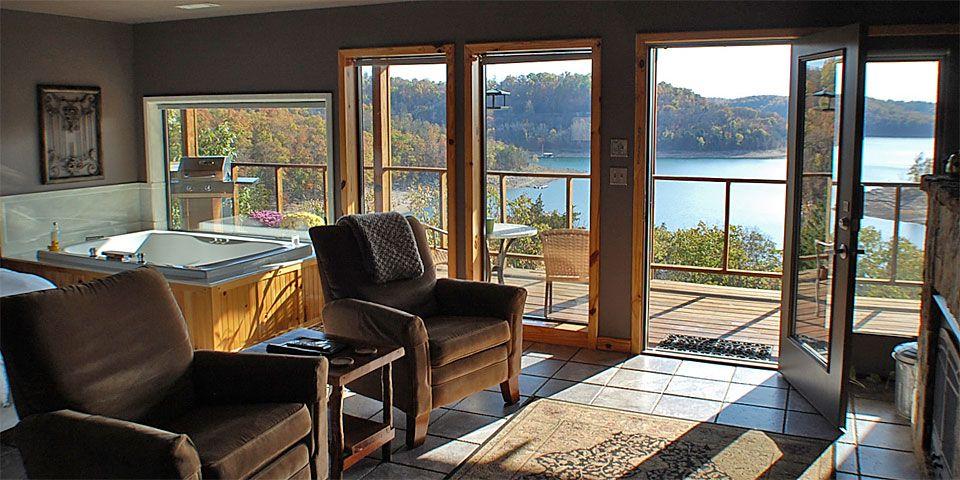 Beaver Lake Front Cabins Eureka springs arkansas, Lake