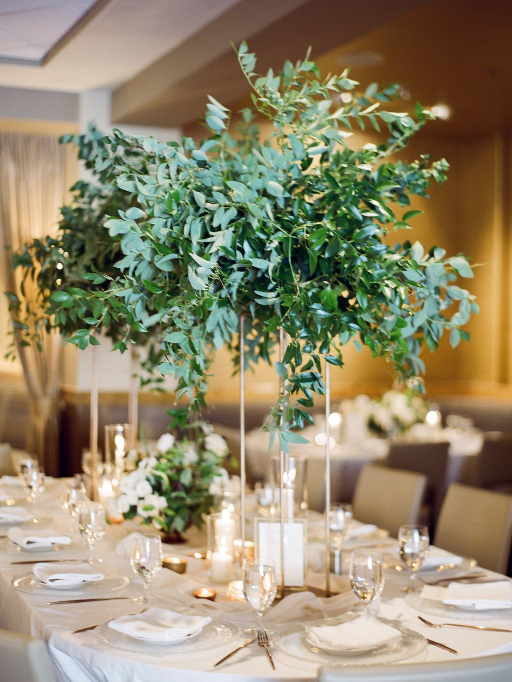 Lush Eucalyptus and Greenery Tall Centerpiece