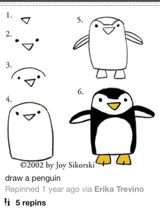Pin by emily g on crafts diy in 2018 pinterest dessin apprendre dessiner and art - Apprendre a dessiner un pingouin ...