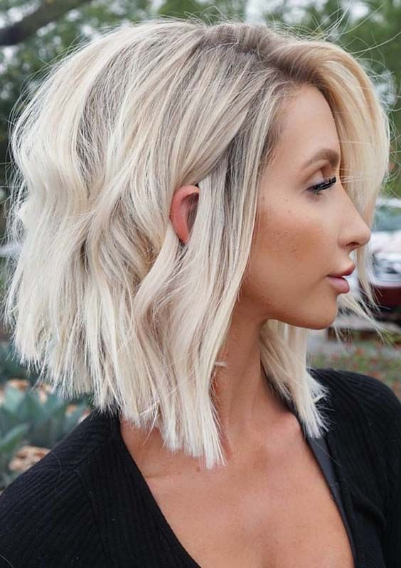 Blonde Hairstyles 41 Amazing Angled Bob Blonde Haircuts And Hairstyles For 2018