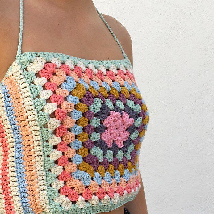 495 vind-ik-leuks, 8 reacties - Sharna + Crochet Artist  (@sweet_sharna) op Instagram: 'One happy customer in her new crochet top, designed by me '
