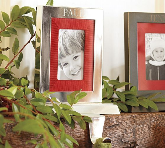 Personalized Frame Stocking Holders Christmas Pinterest