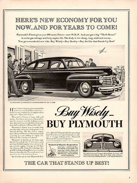 1941 Plymouth Wisely Original Car And Truck Print Ad An Vintage Adver Not A Reproduction Measures Roximately 10 X 13 To