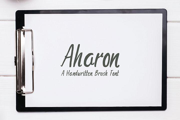 Download Aharon Handwritten Brush Font | Brush font, Brush fonts ...