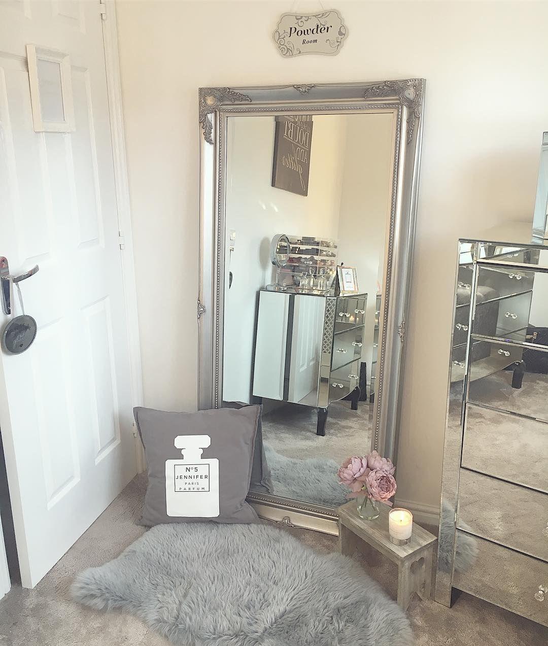 Large Silver Ornate Wall Floor Mirror 158cm X 78cm Mirrored Bedroom Furniture Dressing Room Mirror Floor Mirror Decor
