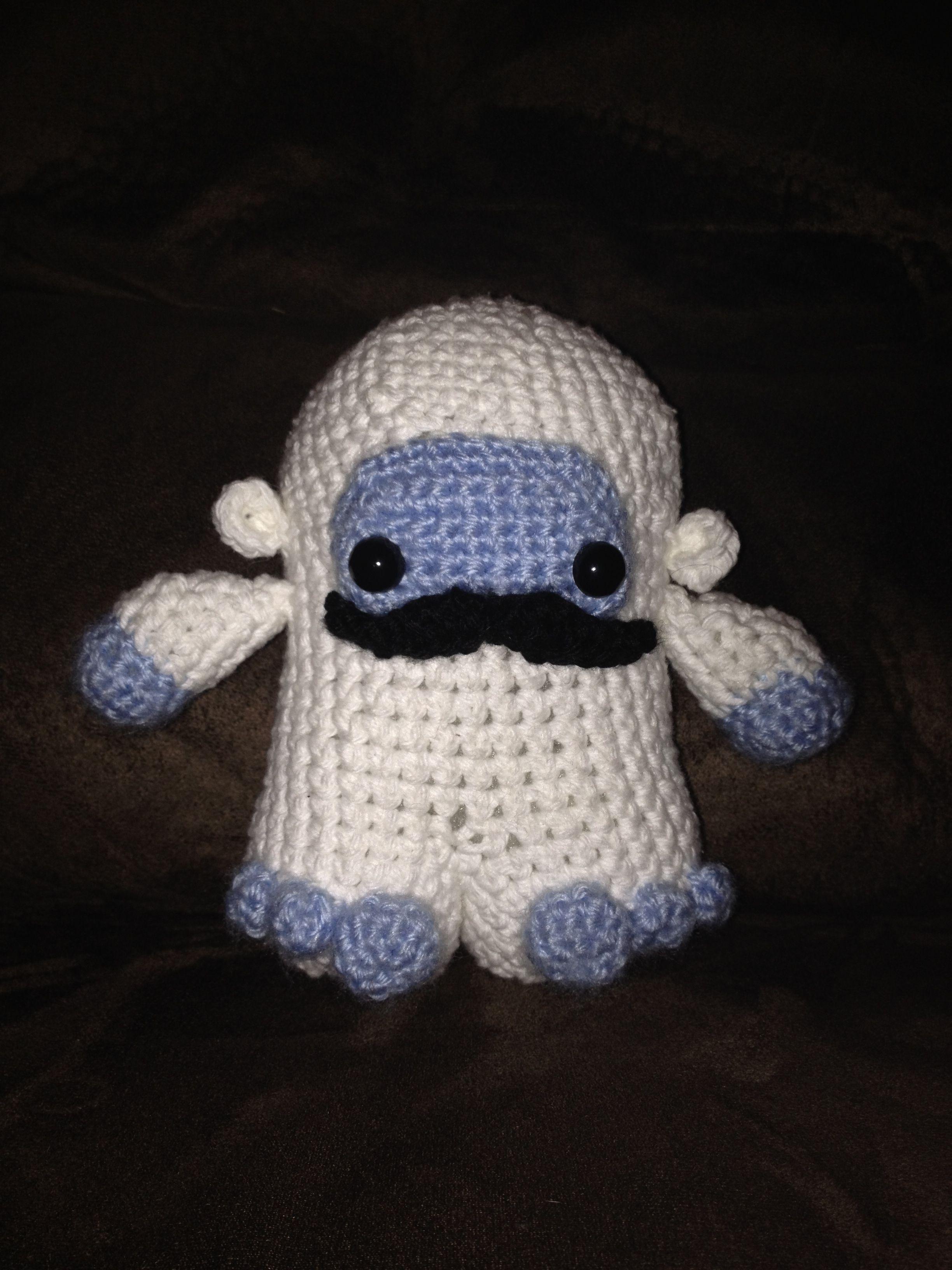Crochet amigurumi hipster yeti with mustache yeti pinterest crochet amigurumi hipster yeti with mustache bankloansurffo Images