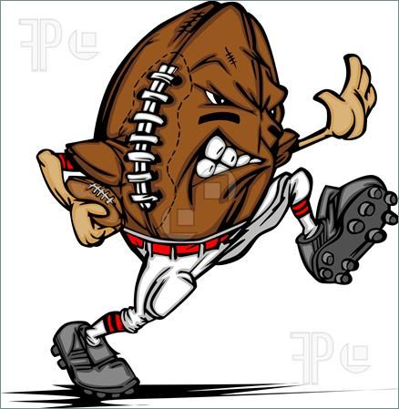 Buy American Football Ball Player Cartoon By Chromaco On Graphicriver Cartoon Image Of A Football As An American Football Running Back