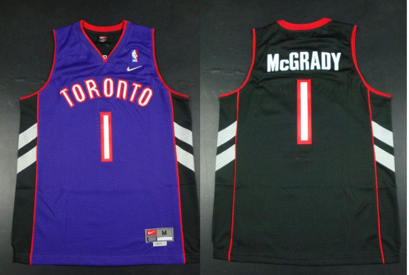 615ce2beda32 NBA Jersey Toronto Raptors 1 McGRADY Soul Swingman Stitched Purple Jersey