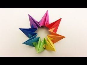 Origami Deko weihnachtsstern faltenwunderschöne origami deko aus 8 teilen