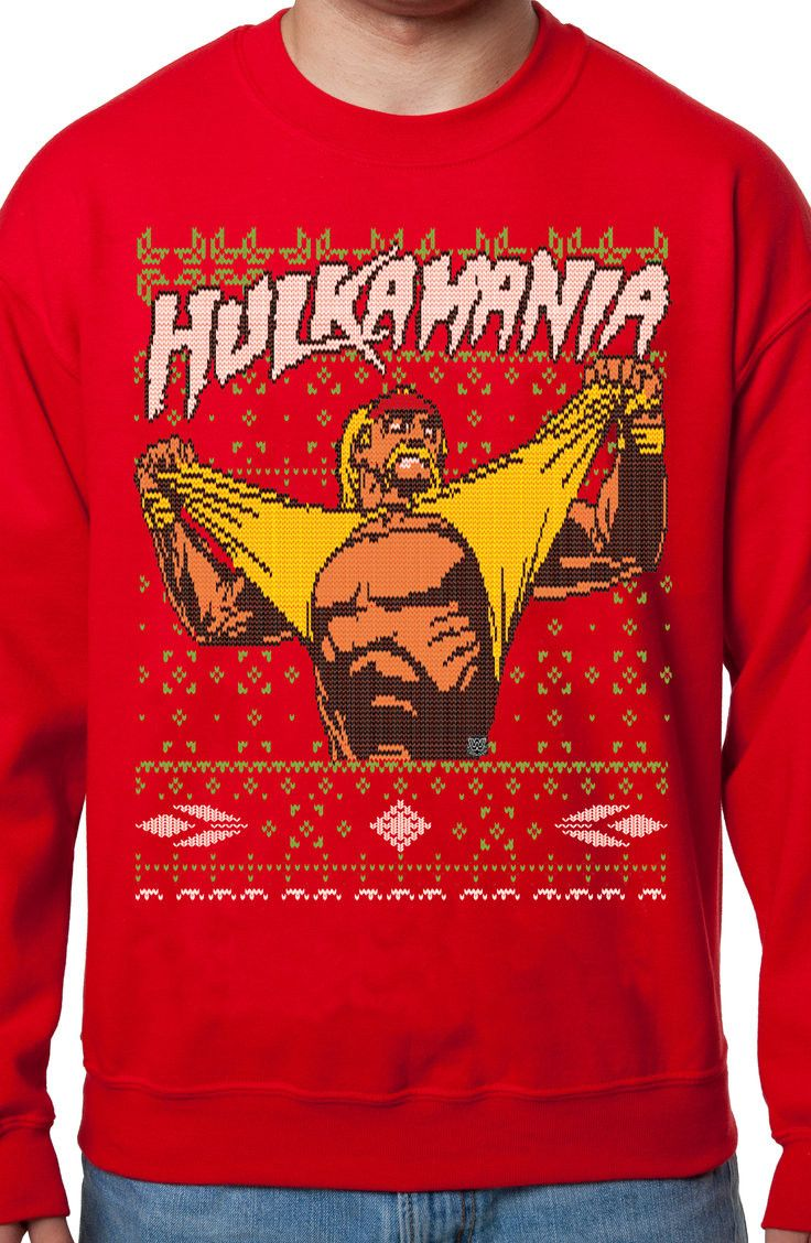 c3ee07db0f2 Hulk Hogan Ugly Christmas Sweater  80s Ugly Christmas Sweaters