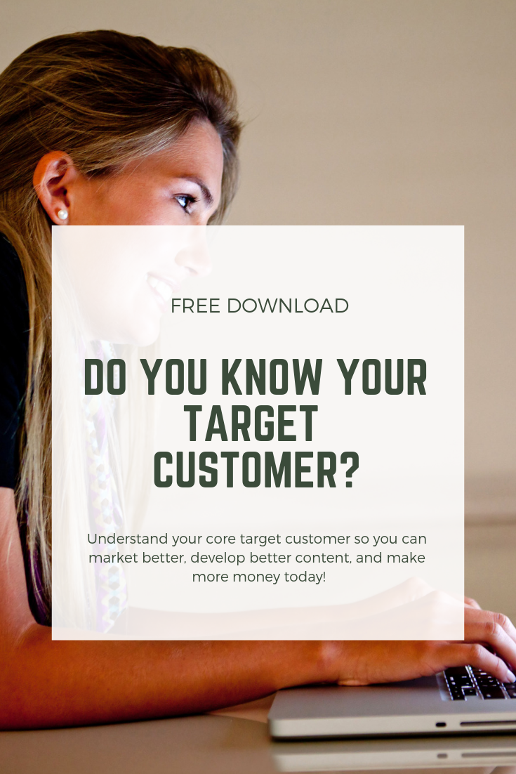 If you don't know the details about your target customer