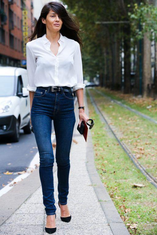 Beyaz Gomlek Kombinleri Beyaz Gomlek Nasil Giyilir Milano Sokak Stilleri Moda Haftalari Moda