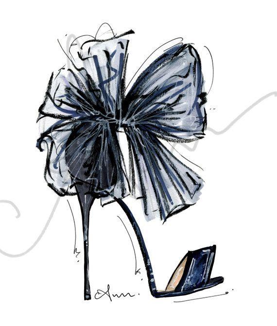 "Photo of Fashion Illustration Graphic, Jimmy Choose, 8×10 """