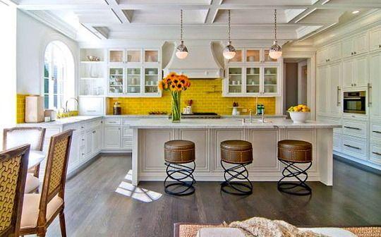 Fall Kitchen Color Mustard Yellow Kitchen Inspirations Kitchen Tiles Design Beautiful Kitchens