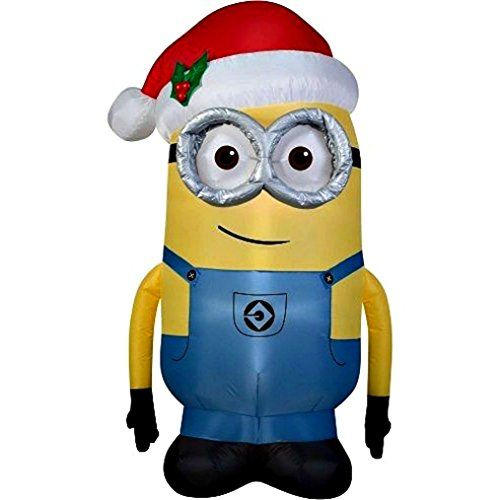 Minion Dave Christmas Inflatable 5 Foot By Gemmy Gemmy   www - lowes halloween inflatables