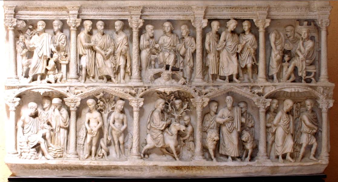 Sarcophagus of Junius Bassus c359 CE 4x8\' marble, St. Peter\'s, Rome ...