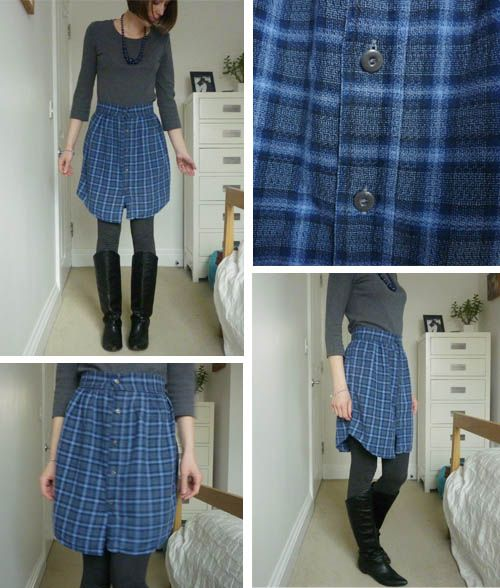 DIY: Skirt from a shirt. I'm going to do this one of my ... - photo #49