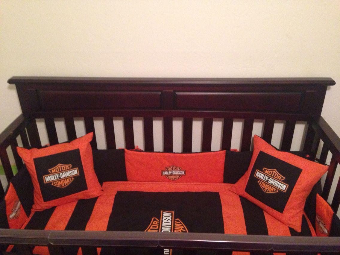 Love My Sons Custom Made Harley Davidson Crib Bedding