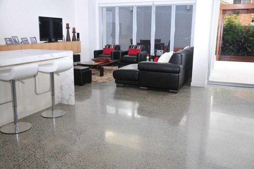 Residential Polished Concrete Flooring In Sydney Brisbane Ans Coatings