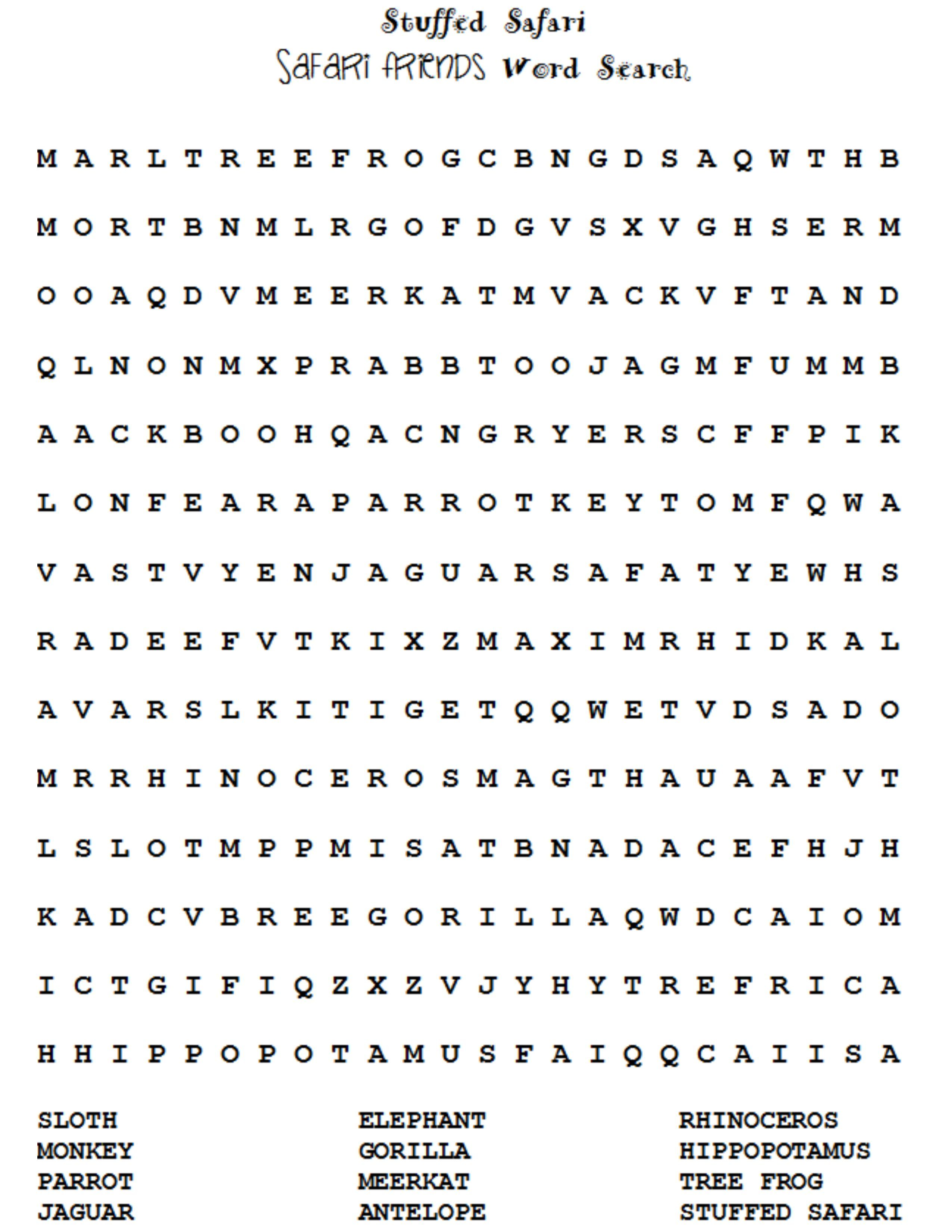 WOW! A free word search for a fun party game! Who will