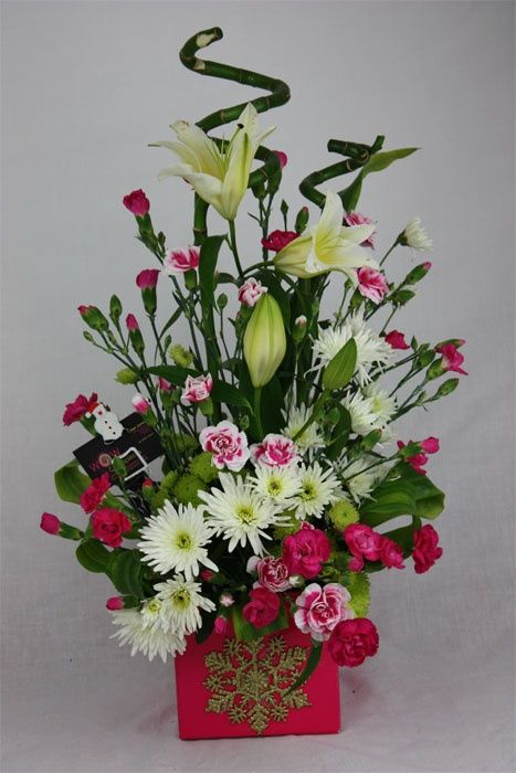 Resultado De Imagem Para Arreglos Florales Christmas Arrangements Flower Arrangements Beautiful Flower Arrangements