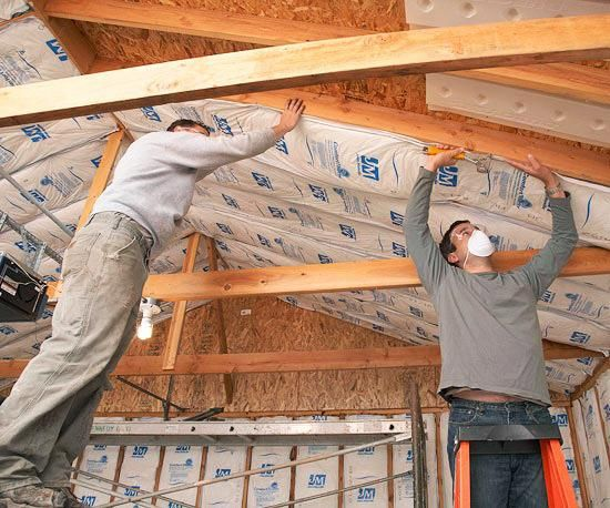 If You Have Year Round Plans For Your Garage Insulation Makes It Comfortable The Installation T Garage Ceiling Insulation Garage Renovation Garage Insulation