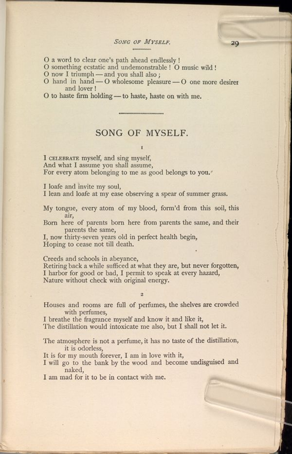 Song Of Myself By Walt Whitman    Favorite Poets  Poems  Song Of Myself By Walt Whitman   Synthesis Essays also Global Business Plan Writers Venture Development  Compare And Contrast Essay Sample Paper