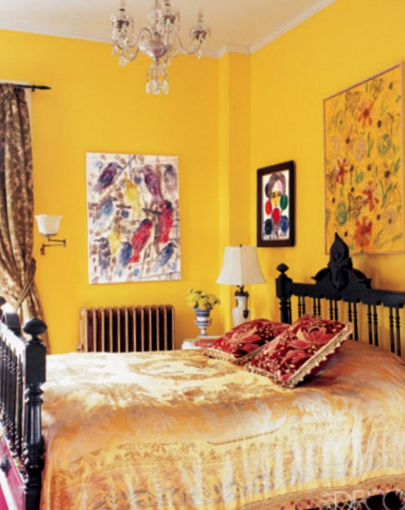 Bohemian Style Bedroom In Daffodil Yellow In 2019