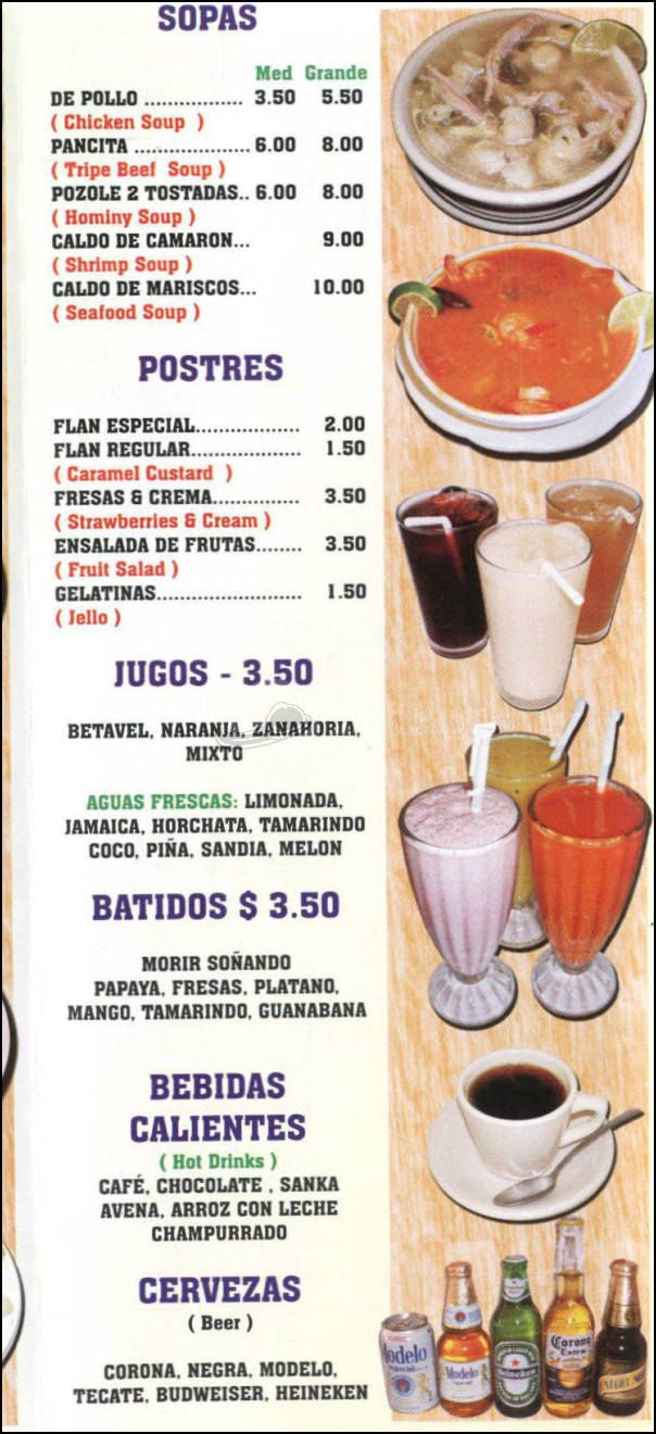 menu spanish project Google Search Food, Menu, Spanish