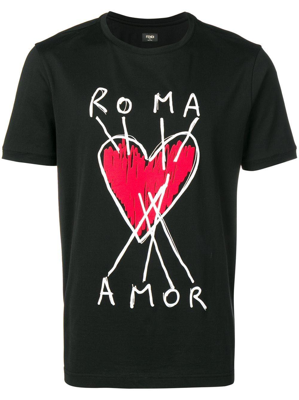 f3fe1b5a FENDI FENDI ROMA AMOR T-SHIRT - BLACK. #fendi #cloth | Fendi in 2019 ...