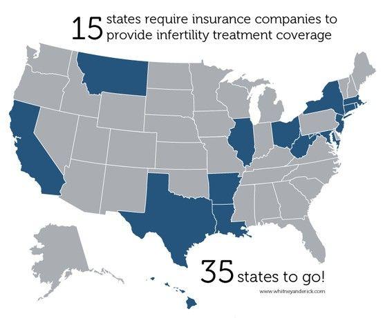 States mandating infertility insurance coverage