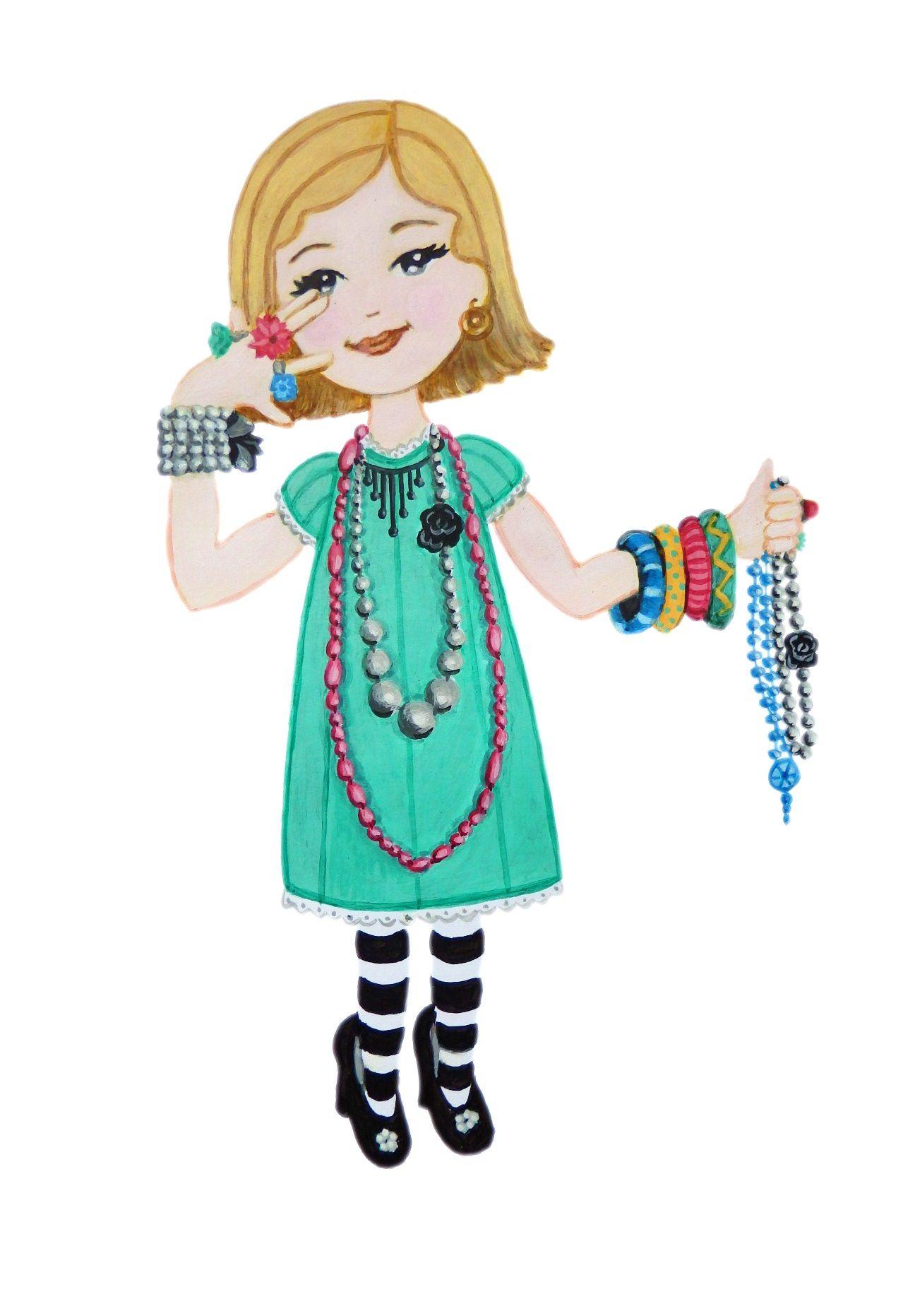 Dibujo de nia con collares  Nat  Pinterest  Dibujo