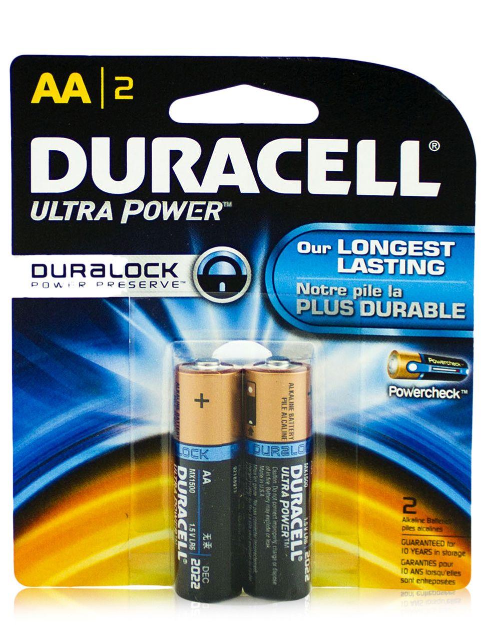 Duracell Ultra Power Duralock AA Alkaline Batteries 2Ct