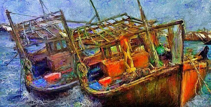 #イラスト #船 #picture Fishing vessels 昨日お絵描きした作品で、海に浮かんだ二艘の漁船をアートな雰囲気を出して、制作しましたこれからの海は春風が荒波を起こしますが、魚達もたくさん捕れる時期になりますね、偶には乗り合い釣り船で大きな魚を採りに行きたいと思ってます。  Woodstock (Full Version) - Eva Cassidy http://youtu.be/0uKdHT7bquM
