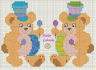 Atelier Colorido PX: Ursinhos musicais... (Gráfico feito por mim)!