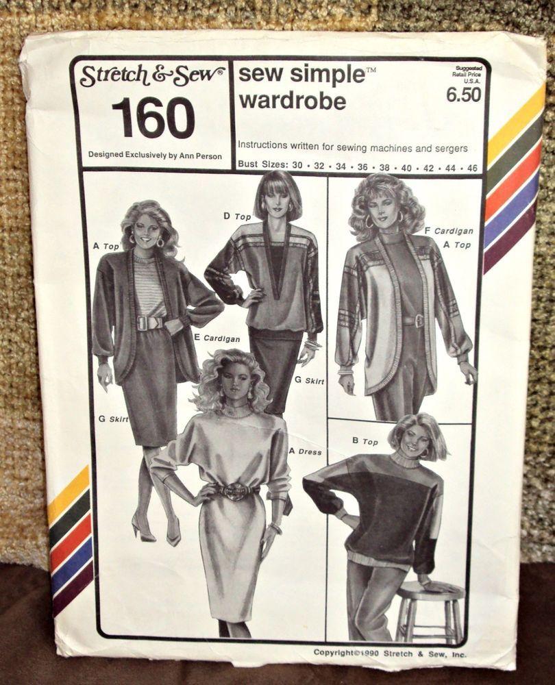 Stretch sew 160 ann person sew simple wardrobe sewing pattern stretch sew 160 ann person sew simple wardrobe sewing pattern size 30 to 46 jeuxipadfo Images