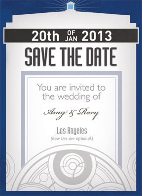 These Doctor Who save the date cards are too cute! Specifically all I am interested in on these is the subtle tone-one-tone Gallifreyan at the bottom. I'd like to feature that on my invitations; perhaps somewhat less centered, however.