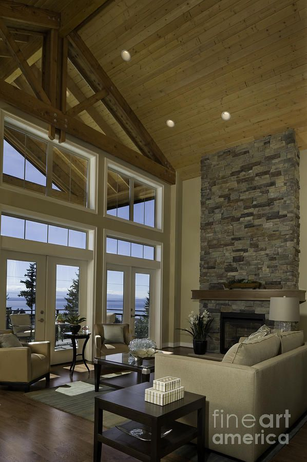 Cathedral Ceiling Home Plans Best Of Two Story House Ideas: Living Room With Cathedral Ceiling By Robert Pisano In