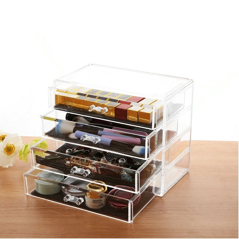 Professional Heavy Duty Clear Acrylic Cosmetic Storage Box Makeup