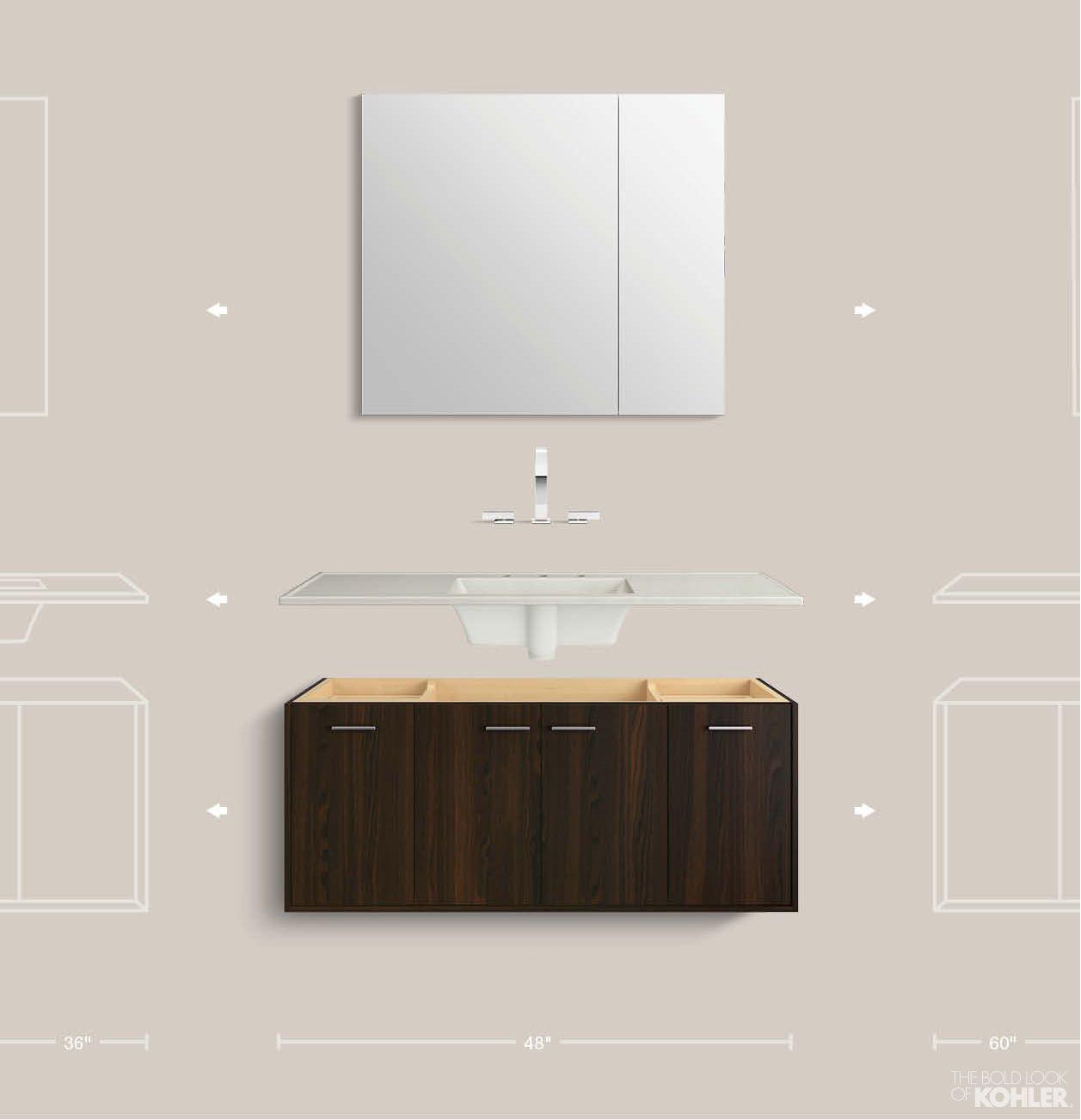 Bathroom Vanity Kohler kohler alberry cinder traditional bathroom vanity | decorating