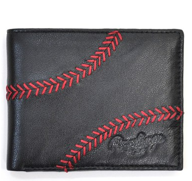baseball stitch mens wallet
