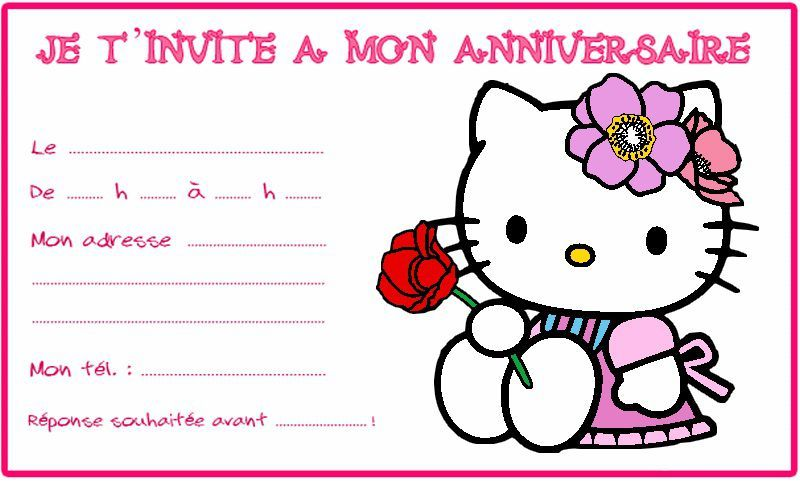 Cartes dinvitation anniversaire fille invitations card template cartes dinvitation anniversaire fille stopboris Images
