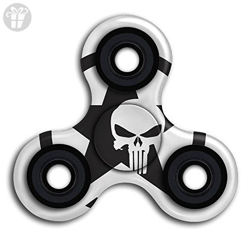 Top1VA Army Star Skull Logo New Style Cool Finger Spinner Stress Reducer  Hand Toy Tri-